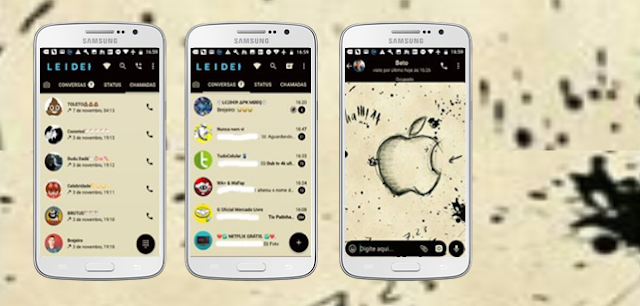 Tema GBWhatsapp – Apple 11