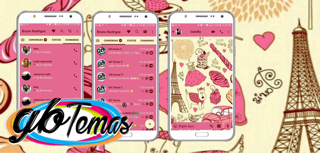 Tema GBWhatsapp - Cute Paris