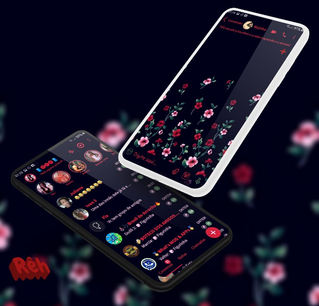 Tema Whatsapp Aero - Flowers 4